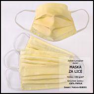 Zaštitna maska 10x18cm, damast - jednobojna - Bojano svijetle i srednje boje