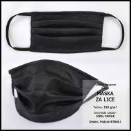 Maska za lice 10x18cm, damast - jednobojna - Bojano tamne boje