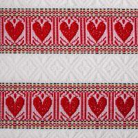 Stolnjak 220x140cm, etno crveni